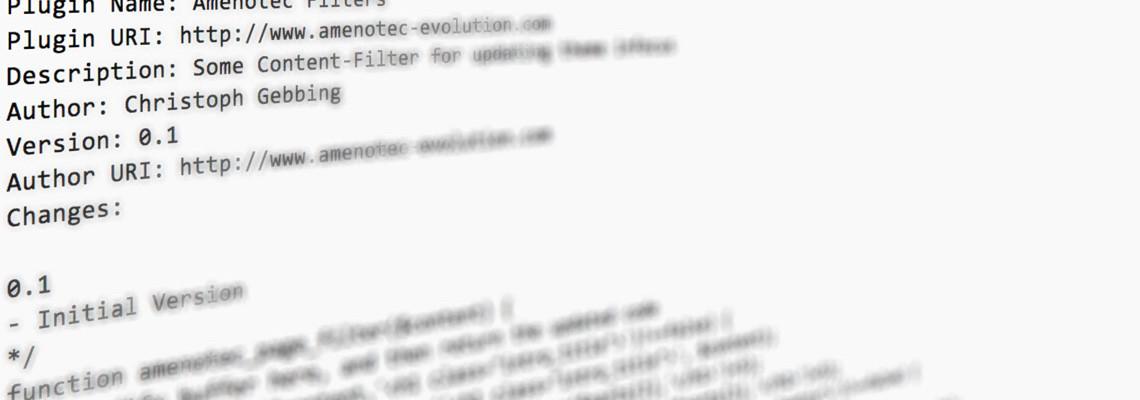 WordPress Plugins erstellen