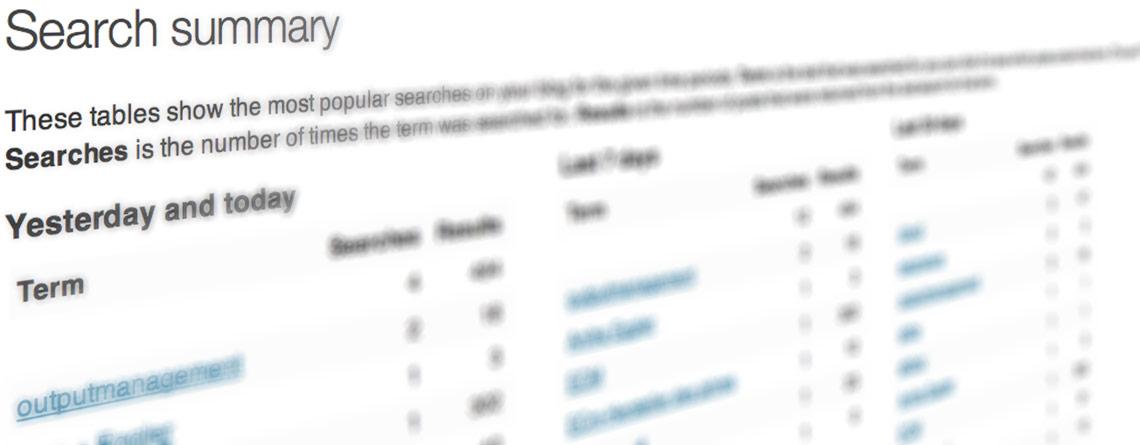 wordpress suche statistik